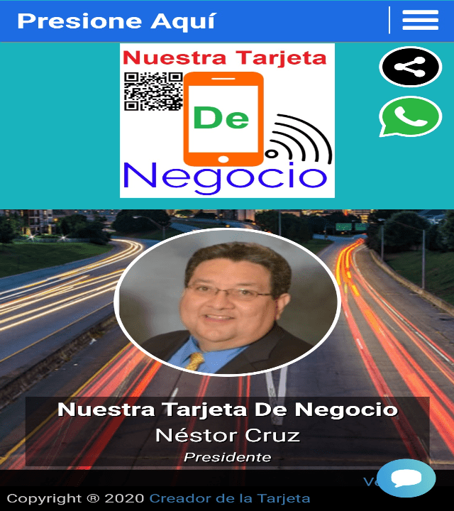 Tarjeta de Negocio de Nestor Cruz